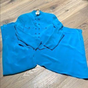 Dana Buchman turquoise three piece outfit EUC!